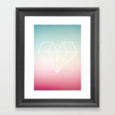 Diamond Heart Framed Art Print