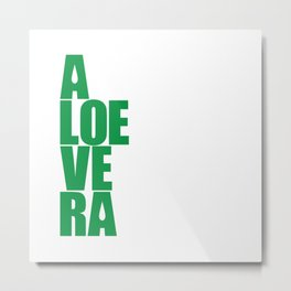aloevera - keep calm and use aloe vera Metal Print
