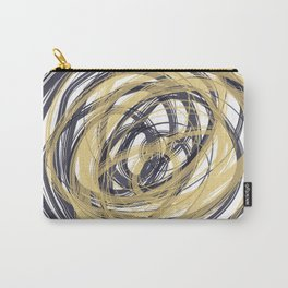 Navy Blue and Gold Loop Carry-All Pouch