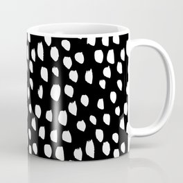 Handdrawn drops and dots on black - Mix & Match with Simplicty of life Coffee Mug