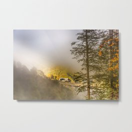 Mountains in the mist Metal Print