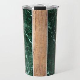 Wood Grain Stripes - Green Granite #901 Travel Mug
