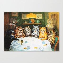 Kitty Happy Hour - Louis Wain's Cats Canvas Print