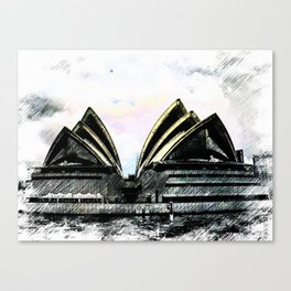 Sydney Opera House  Collection II Canvas Print