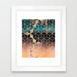 Ombre Dream Cubes Framed Art Print