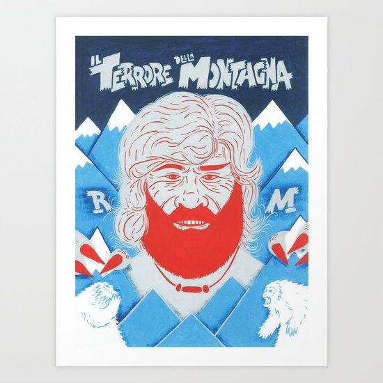 Il Terrore della Montagna Art Print