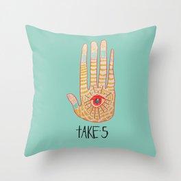 TAKE 5 Throw Pillow