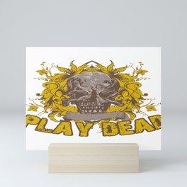 Play Dead Skull Mini Art Print