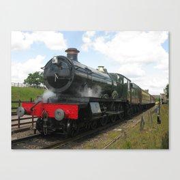Vintage steam engine railway train Canvas Print