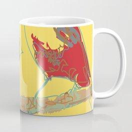 Abstract Sunshine Bird Illustration Coffee Mug