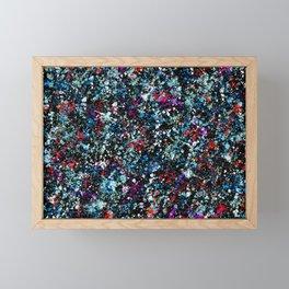 paint drop design - abstract spray paint drops 4 Framed Mini Art Print