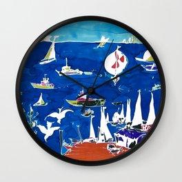 The Marina, Southport, AUSTRALIA        by Kay Lipton Wall Clock