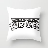 tmnt Throw Pillows featuring TMNT by Unicity