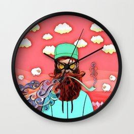 Man and pipe Wall Clock
