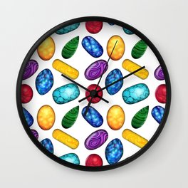 Colorful Minerals Pattern Wall Clock