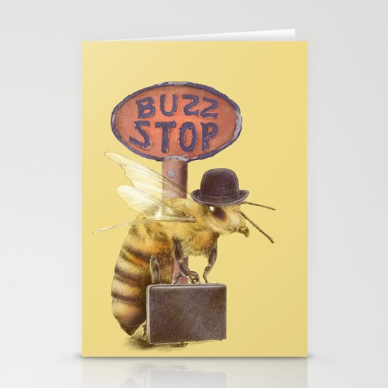 Worker Bee (colour option) Stationery Cards