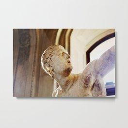 Sculpture photo, Louvre Museum, Paris Metal Print