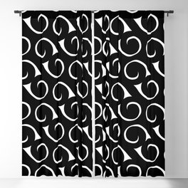 Black and White Swirls Blackout Curtain