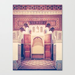 Moroccan Ornate Woodwork Doorway Fine Art Print Canvas Print