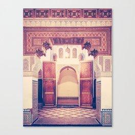 Moroccan Ornate Woodwork Doorway Fine Art Print Canvas Print