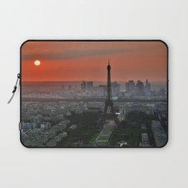 Paris le soir Tour Eiffel Laptop Sleeve