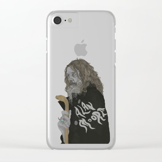 Alan Moore Clear iPhone Case
