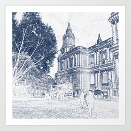 London View: St Pauls Art Print