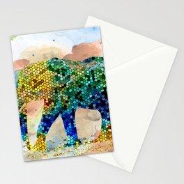 Design 37 Mosaic Elephant Stationery Cards