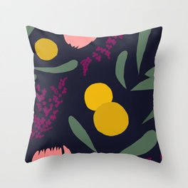 Abtract Garden by Night Throw Pillow