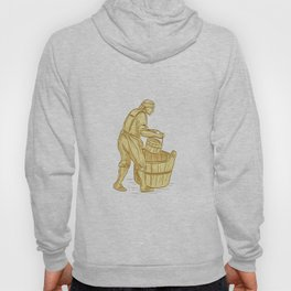 Medieval Miller With Bucket Drawing Hoody