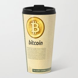 Bitcoin banknote seasoned Travel Mug