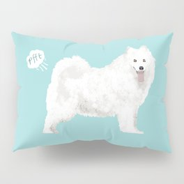 samoyed funny farting dog breed pure breed pet gifts Pillow Sham