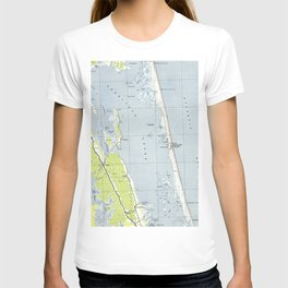Vintage Northern Outer Banks Map (1940) T-shirt