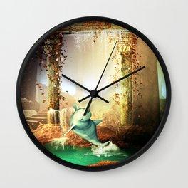 Funny dolphin Wall Clock