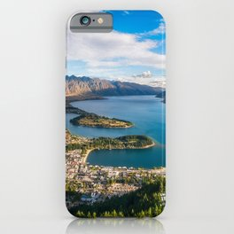Queenstown Panorama at golden hour, New Zealand. iPhone Case