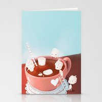 drink Stationery Cards featuring Drink by Joelle Murray