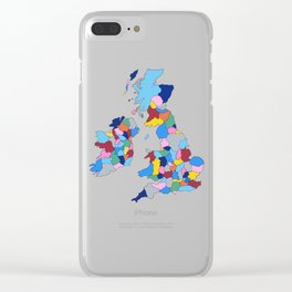 England, Ireland, Scotland & Wales Clear iPhone Case
