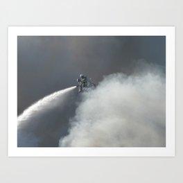 Fireman at work Art Print