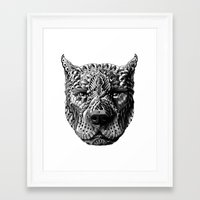 pitbull Framed Art Prints featuring Pitbull by BIOWORKZ