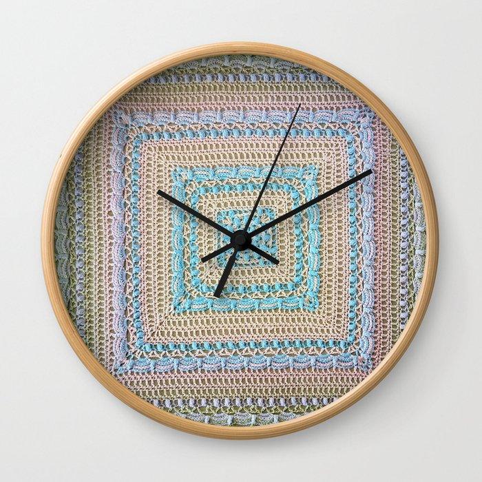 Timeless Crochet Wall Clock