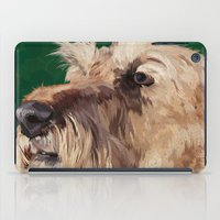 irish iPad Cases featuring Irish terrier by Carl Conway