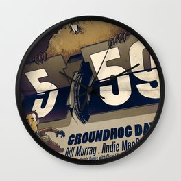 Groundhog Day Wall Clock