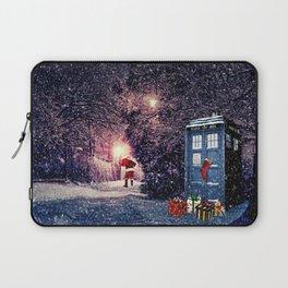 Tardis Christmas Laptop Sleeve
