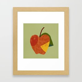 Textured plain apple Framed Art Print