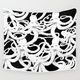 octopus nero Wall Tapestry