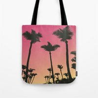 palms Tote Bags featuring Palms by Cultivate Bohemia