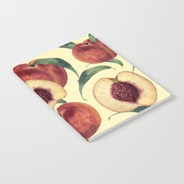Watercolor sweet peaches Notebook