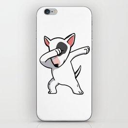 Funny Dabbing English Bull Terrier Dog Dab Dance iPhone Skin