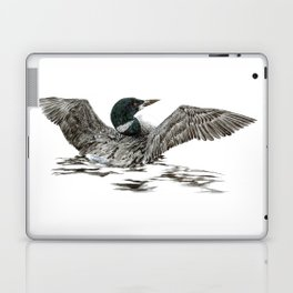 Morning Stretch - Common Loon Laptop & iPad Skin