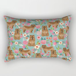 Chow Chow dog breed pet art dog floral pattern gifts for dog lover pet friendly Rectangular Pillow